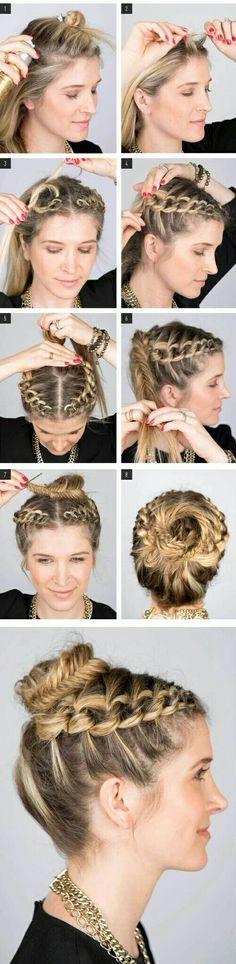 Peinado recogido modo tomate + trenza