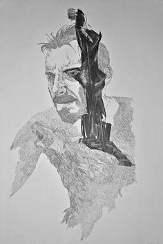 wolf bite \ monoprint \ etching \ 70x100 \ valentini mavrodoglou \ 2017 #printmaking #wolf #artwork #art #etching #intaglio #monochrome  #fineart #valentinimavrodoglou #blackandwhiteart #bwart #powerful #portrait #inspiration #illustration #wolfart