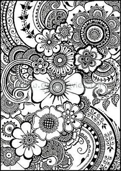 Flowers Coloring Sheets Pdf Best Of Coloring Pages for Kids Flowers Ideas Henna Flower Printable Paisley Coloring Pages, Doodle Coloring, Flower Coloring Pages, Coloring Book Pages, Coloring Sheets, Mandala Coloring Pages, Colouring Pages For Adults, Hair Coloring, Mandalas Painting