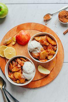 AMAZING Cinnamon Baked Apples! 9 ingredients, 1 bowl, NATURALLY SWEETENED, Tender + Delicious! #bakedapples #vegan #plantbased #fall #apples#glutenfree #refinedsugarfree #minimalistbaker