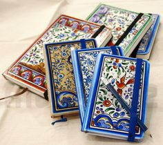 Handpainted notebook by Isaura Marques  Reproduction Coimbra's  typical painting from VII century