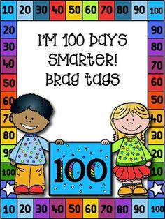 Need a fun way to celebrate the 100th day of school? These brag tags are a wonderful way to celebrate!