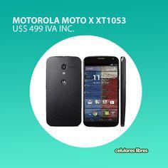 Nuestro celular elegido para el día de hoy es el Motorola Moto X, un modelo de alta gama que cuenta con todas las facilidades para poder comunicarte todos los días. Encontralo en: http://celulares.com.uy/celulares/motorola/moto-x-xt1053-negro