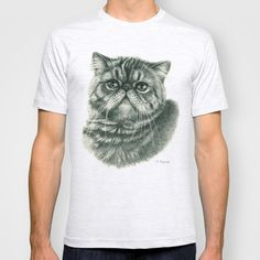 Shorthair Persan cat G088 T-shirt by S-Schukina - $18.00