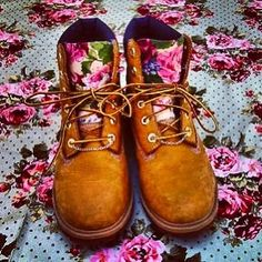 Custom floral timberland boots by Sneakerhead15 on Etsy, $185.00