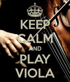 Image: Keep Calm and Play Viola