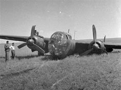Wrecked night bomber Dornier Do 217K. The same aircraft modifications of K-2 were used as carriers of radio-controlled flying bomb FX-1400 or the bombing of cruise missiles Hs 293A. Both bombs were designed as antiship weapons.  Do 217K aircraft were used only in the West, and the theater of operations in the Mediterranean.