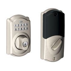 Buy the Schlage Satin Nickel Direct. Shop for the Schlage Satin Nickel Camelot Keypad Electronic Deadbolt with Z-Wave Technology and save. Electronic Deadbolt, Black Friday Tools, Computer Cleaner, Best Home Security Camera, Wireless Home Security Systems, Surveillance System, Works With Alexa, Satin