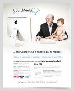 campagna stampa store Apple CuordiMela #adv #advertising #Applem #CuordiMela