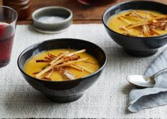 Make and share this Sweet Potato Soup With Matchstick Fries and Frizzled Leeks recipe from Genius Kitchen.