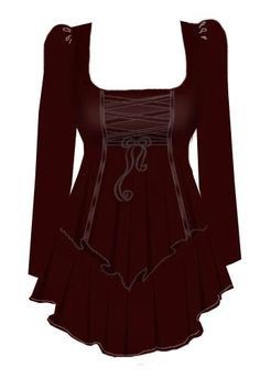 Blueberry Hill Fashions : Gothic Corset Laced Top