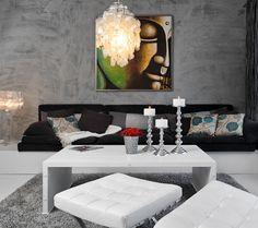 olohuone, loft @ Asuntomessublogit Loft, Living Room, Red, Lofts, Home Living Room, Drawing Room, Lounge, Family Rooms, Dining Room