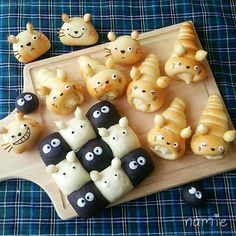 Wie macht man Donuts in Japanese Bread, Japanese Sweets, Dessert Kawaii, Cute Food, Yummy Food, Kreative Snacks, Cute Baking, Bread Art, Bread Shaping