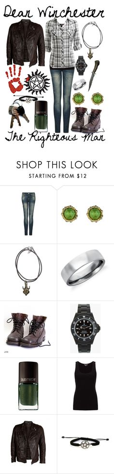 """Dean Winchester"" by pieisyummy ❤ liked on Polyvore featuring MANGO, Alexis Bittar, Blue Nile, Laura Mercier, Jigsaw, Wet Seal and VIPARO"