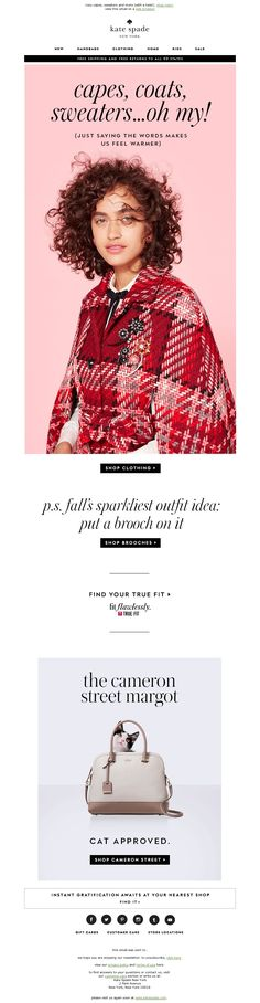 kate spade - we're all wrapped up in fall.