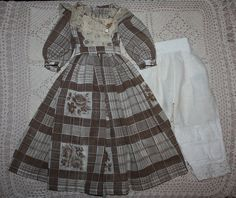 Lovely Voile Dress and Pantaloons for China Head Dolls