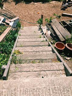 Boat house patterned steps in Shoreham