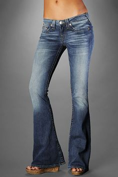 jeans for women skinny boyfriend cut up cute affordable for sale online cheap flared high waisted ripped 156093 Flare Leg Pants, Flare Jeans, Women's Flares, Cheap Jeans, True Religion Jeans, Jeans For Sale, Bell Bottom Jeans, Indigo, Skinny