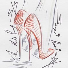 Beautiful shoe sketches