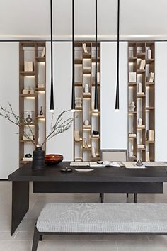 News and Trends from Best Interior Designers Arround the World Shelving Design, Shelf Design, Built In Furniture, Deco Furniture, Home Interior Design, Interior Architecture, Chinese Interior, Workspace Design, Office Interiors