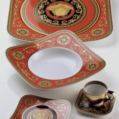 49f48a002838 Rosenthal Meets Versace Medusa Combi Square Saucer Versace Furniture