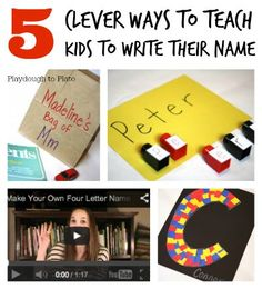 5 Clever Ways to Teach Kids How to Write Their Name. The songs are my favorite!!