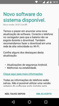 Atualização Moto G 2015