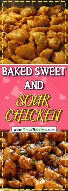 BAKED SWEET AND SOUR CHICKEN Via #PinchOfRecipesHealthyRecipes #chickensalad chicken salad recipe #chickenrecipes chicken recipes #chickendinner chicken dinner recipes #cooking cooking light recipes #recipe recipe #chickencasserole chicken casserole recip