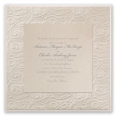 The sheer elegance of these layered wedding invitations is undeniable, not to mention a beautiful place to start when inviting friends and family to your wedding! From Invitations by Dawn.
