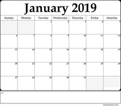 January 2019 Calendar Theme 10 Best January 2019 Calendar Printable images