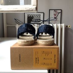 Ball Pagès cross navy model ready to go. These ones were handmade by sweet Mariana