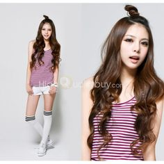 Girls Light Brown Long Curl Hair Extend for Any Skin Color - $8.84