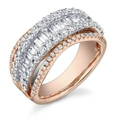 diamonds and rose gold