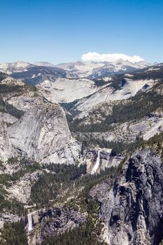 On this picture you can see the Nevada Fall and the Vernal Fall in the Yosemite Valley. The picture was taken at the Glacier Point. Wonderful views up there. Vernal Falls, Glacier Point, Yosemite Valley, Nevada, Grand Canyon, Christian, Nature, Pictures, Travel
