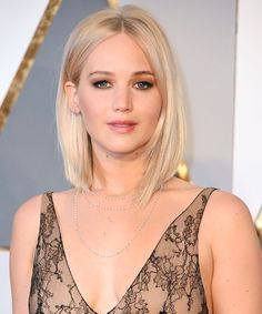 Jennifer Lawrence Goes Ice Blonde—See Her Hair Up Close from InStyle.com