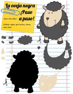 La oveja negra de la familia no lo es porque no le tengamos cariño, sino porque queríamos aprovechar unos retales de color gris. ¡Recicla!