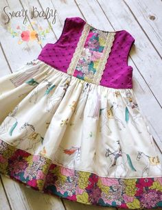Image of Though she be but little Baby Girl Frocks, Frocks For Girls, Dresses Kids Girl, Little Girl Outfits, Cute Outfits For Kids, Girls Frock Design, Kids Frocks Design, Smocked Baby Clothes, Baby Dress Patterns