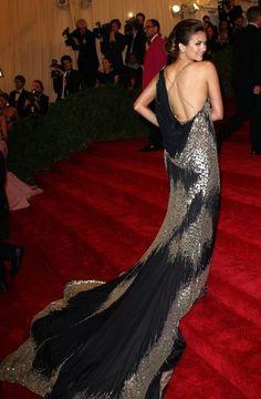 Nina Dobrev (MET costume gala 2012)- back of the dress