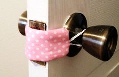wake up baby just as you leave and close the door to their room! Easy sew to a quieter nursery room door.Don't wake up baby just as you leave and close the door to their room! Easy sew to a quieter nursery room door. Baby Room Decor, Nursery Room, Baby Rooms, Bedroom, Nursery Ideas, Nursery Crafts, Babies Nursery, Nursery Furniture, Girl Nursery