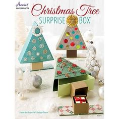 Christmas Tree Surprise Box available at Little Miss Muffet Stamps.