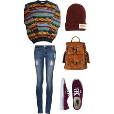 teenage outfit ideas for school - Google Search Really like the bagpack