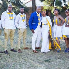 Presenting Mr and Mrs Mokgatle  and their squad! Yaaay we did it!!! #TshepoWedsRachel #Day1