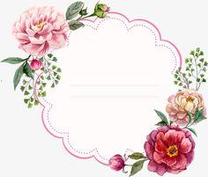 Pink vintage watercolor floral frame note lines card Vintage Flowers, Pink Flowers, Diy And Crafts, Paper Crafts, Borders And Frames, Vintage Diy, Grafik Design, Flower Frame, Watercolor Flowers