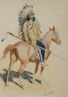 Sid Richardson Museum: A Sioux Chief by Frederic Remington