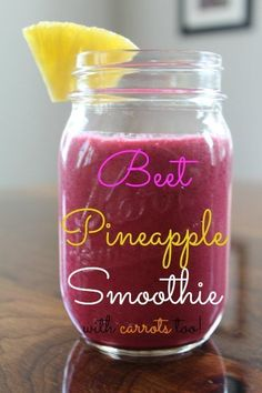 Beet Pineapple Smoothie Recipe from Having Fun Saving and Cooking.  Beets are an amazing super food and should be added to smoothies and much to my surprise, they're not as scary as I thought and are delicious!