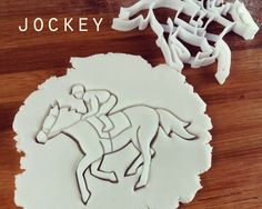 Jockey cookie cutter  biscuit cutters one of a kind ooak by Made3D