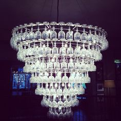 Wine glass chandelier in hotel du vin Cheltenham | Flickr : partage de photos !