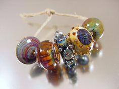 Handmade lampwork glass beadsSLOW DANCESRA by AvasBeadGarden