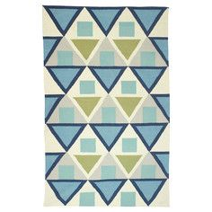 Valerie Handwoven Green Blue, $217 - $999, now featured on Fab.  This rug would be fun in a Tri Delta house!