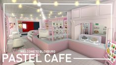Part of my Tokyo speedbuild series, here's a Pastel Pink Cafe speedbuild~ ★・・・・・・★・・・・・・★・・・・・・★ ☆ Description ☆ Recreated my previous Milkshake Cafe (Tokyo . Tiny House Layout, House Layout Plans, House Layouts, Bedroom House Plans, House Rooms, Home Building Design, Building A House, My New Room, My Room